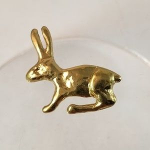 Anne Dick Vtg Modernist Gold Rabbit Brooch